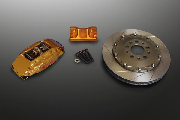 R34 GT-R | ブレーキキット【マインズ】ブレンボブレーキシステム スカイライン GT-R BNR34 フロント F50 (4POT) 343φ