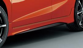 GK3-6 フィット GK3-6 FIT | サイドステップ【ムゲン】フィット GK3-6 サイドスポイラー メーカー塗装 2トーンカラード仕上げ ツヤ消しブラック塗装×ビビッドスカイブルー・パール(8B595P)