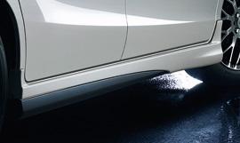 フリード | サイドステップ【ムゲン】フリードスパイク/フリードスパイクハイブリッド Side Spoiler メーカー塗装品 スーパープラチナ・メタリック NH704M