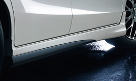 フリード | サイドステップ【ムゲン】フリードスパイク/フリードスパイクハイブリッド Side Spoiler メーカー塗装品 モダンスティール・メタリック(NH797M)