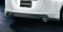 フリード   リアバンパーカバー / リアハーフ【ムゲン】フリードスパイク/フリードスパイクハイブリッド Rear Under Spoiler メーカー塗装品 クールターコイズ・メタリック(BG59M)