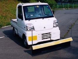 【アイバワークス】スノープラウ フラットタイプ:ミニキャブ (U42T 丸ヘッドライト用)