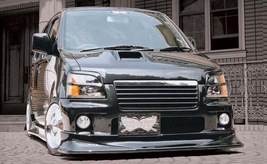 MC ワゴンR | フロントハーフ【バタフライシステム】WAGON-R MC RR 後期 American System フロントハーフスポイラー