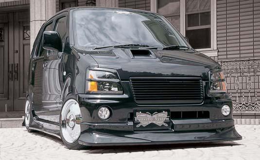 MC ワゴンR | フロントハーフ【バタフライシステム】WAGON-R MC RR 前期 American System フロントハーフスポイラー