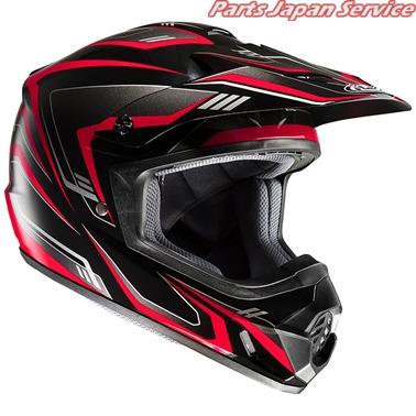 HJH123 CS-MX2 エッジOf ヘルメット BK RD L HJH123 アールエスタイチ
