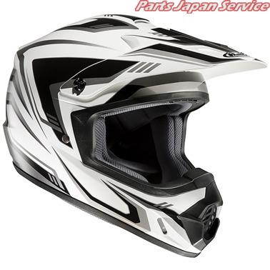HJH123 CS-MX2 エッジOf ヘルメット WH BK M HJH123 アールエスタイチ