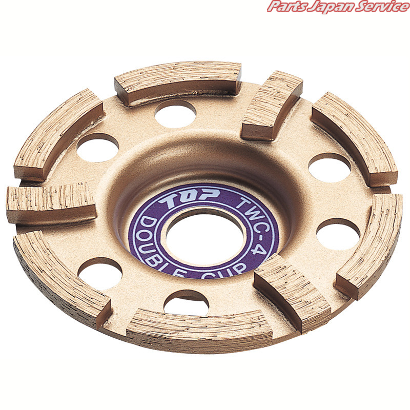カップ型ダイヤモンドホイール(ダブル) TWC-4 トップ工業