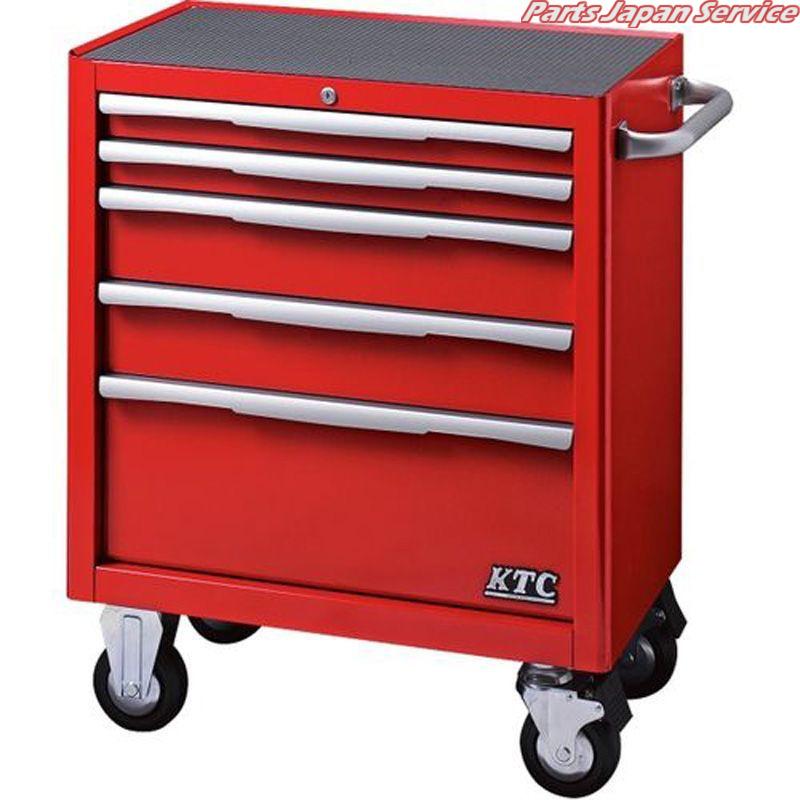 数量限定セール  EKW-1005R ローラーキャビネット(5段5引出し) KTC:パーツジャパンサービス店-DIY・工具
