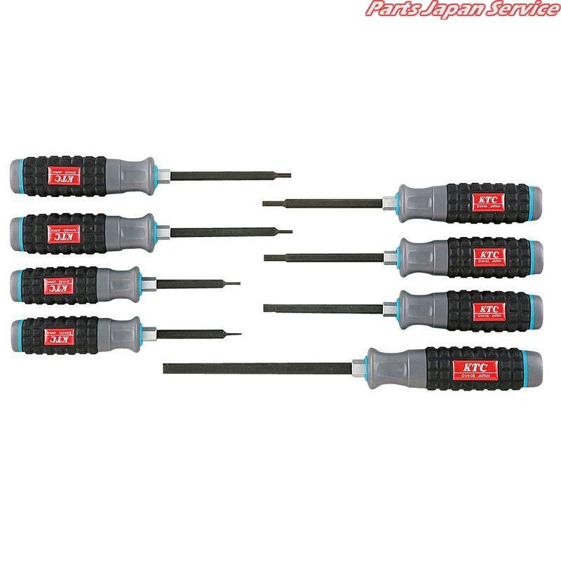 樹脂柄ヘキサゴンドライバセット8本組 TD1H8 京都機械工具 KTC
