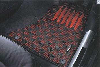 AUDI / アウディ 純正 アクセサリーフロアマット スポーツ(ブラック&レッド)TT(8J) ROADSTER用送料100サイズ