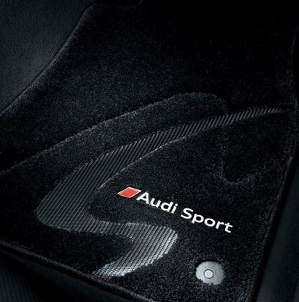AUDI / アウディ 純正 アクセサリーフロアマットプレミアムスポーツ(ブラック)Sモデル専用フロアマットTTS(8S) 左ハンドル車用送料60サイズ