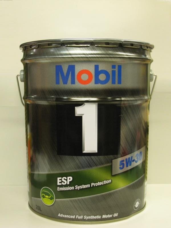 Mobil1 モービル1 エンジンオイルMobil ESP 5W-30 / 5W30 20L缶 ペール缶