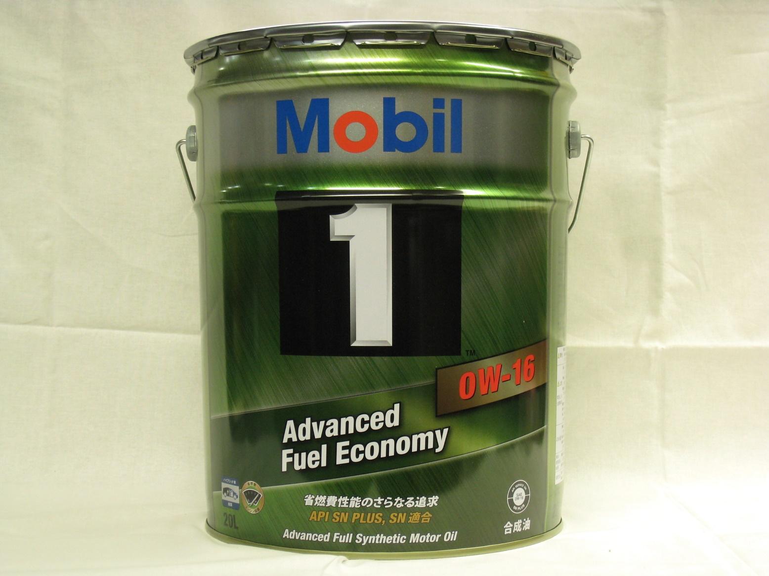 モービル1 エンジンオイル 0W-16/0W16 20L缶 1本 Mobil1 SN PLUS
