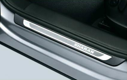 Volkswagen and Volkswagen / VW genuine accessories door sill plate (stainless steel) SHARAN / challan for shipping size 80