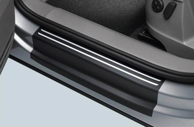 Volkswagen / フォルクスワーゲン / VW純正アクセサリードアシルプロテクションフィルム(ブラック/シルバーライン)SHARAN/シャラン用送料サイズ80