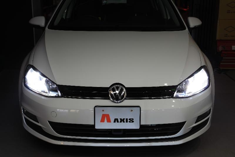 AXIS/アクシスVW GOLF7 ハロゲンヘッドライト装着車専用H.I.Dキット送料60サイズ