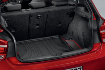 BMW純正アクセサリー1シリーズ(F20)ラゲージ・コンパートメント・マットブラック/レッド(Sport)送料200サイズ