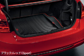 BMW純正アクセサリー3シリーズ(F31)ラゲージ・コンパートメント・マットツーリング用ブラック/レッド(Sport)送料160サイズ