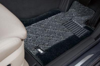 BMW純正アクセサリー5シリーズ(F10/F11)フロア・マット・セットサキソニー・ロイヤル(グレー・アンド・ブラック)左ハンドル車用2013.7以降用送料160サイズ