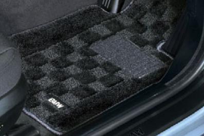 BMW純正アクセサリー4シリーズ カブリオレ(F33)フロア・マット・セットシャギー(ブラック)左ハンドル車用送料160サイズ