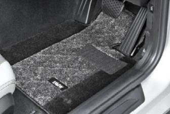 BMW純正アクセサリー3シリーズ(F30/F31)フロア・マット・セットサキソニー・ロイヤル(グレー/ブラック)右ハンドル車用送料160サイズ