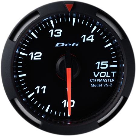 Defi/デフィ Racer Gauge/レーサーゲージ電圧計 Φ52シリーズホワイトレーサーゲージ 送料60サイズ