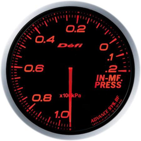 Defi/デフィ Link MeterADVANCE BF/アドバンスビーエフインテークマニホールドプレッシャー計φ60/アンバーレッド 送料60サイズ