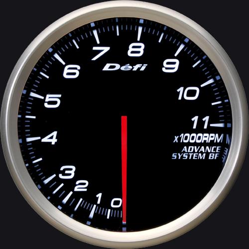 Defi/デフィ Link MeterADVANCE BF/アドバンスビーエフタコメーター(~11000rpm)φ80/ホワイト 送料60サイズ