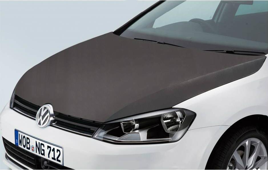 Volkswagen / フォルクスワーゲン / VW純正アクセサリーボンネットフィルム(カーボン調)GOLF7/ゴルフ7送料サイズ100