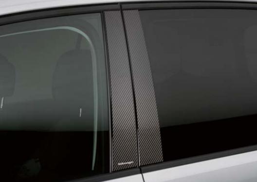 Volkswagen / フォルクスワーゲン / VW純正アクセサリーカーボンピラーガーニッシュGOLF TOURAN/ゴルフ トゥーラン送料100サイズ