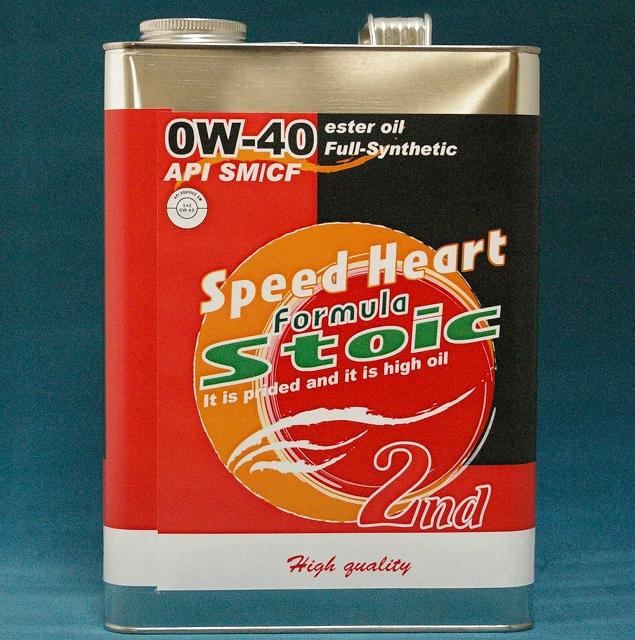 Speed Heart/スピードハートエンジンオイルフォーミュラストイック 2nd 0W40/0W-404Lx6本送料無料