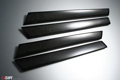 OSIRStrips カーボンインナードアトリム 4pcsfor AUDI / アウディ A3(8P)送料60サイズ