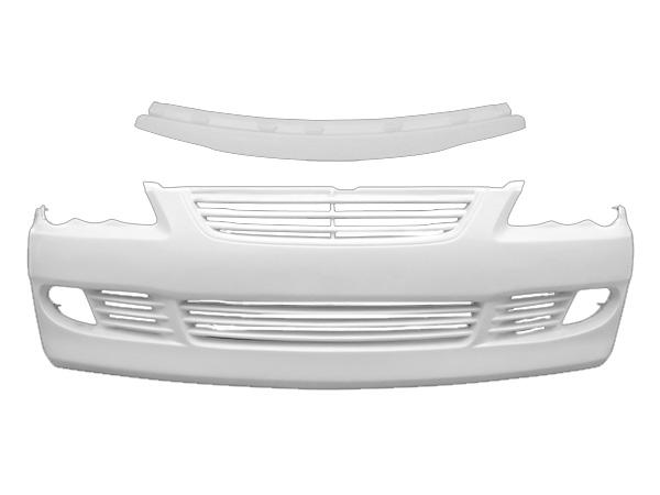 マークX GRX120 フロントバンパー フードトップモール 前期 後期 H16/11~H21/9 FRP 未塗装 社外品 MARK X トヨタ TOYOTA