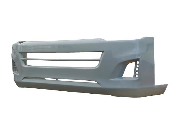 ハイエース レジアスエース 200系 標準 ナロー TRH200 KDH201 KDH206 フロントバンパー 2010/7~2013/11 全グレード 3型(H22/7~H25/11) FRP 未塗装 社外品 HIACE REGIUSACE トヨタ TOYOTA