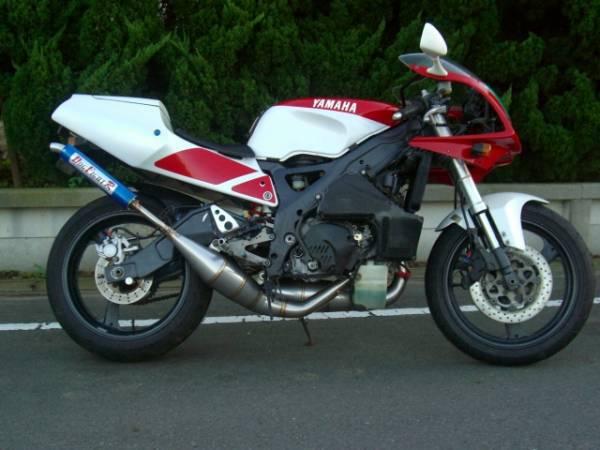 DOG FIGHT RACING ドッグファイトレーシング製 YAMAHA TZR250R/RS('91-'94) ステンレスチャンバー/アルミサイレンサー