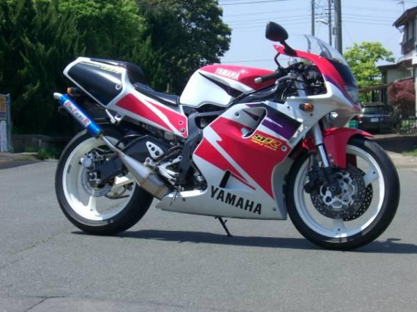 DOG FIGHT RACING ドッグファイトレーシング製 YAMAHA TZR250SPR('95-) ステンレスチャンバー/アルミサイレンサー