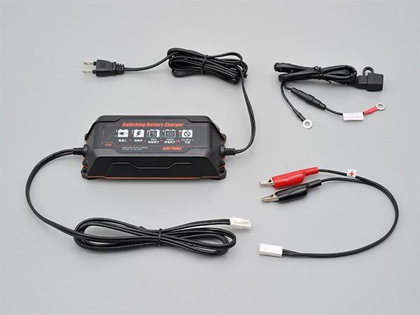 スイッチングバッテリーチャージャー12V 回復微弱充電器(95027)