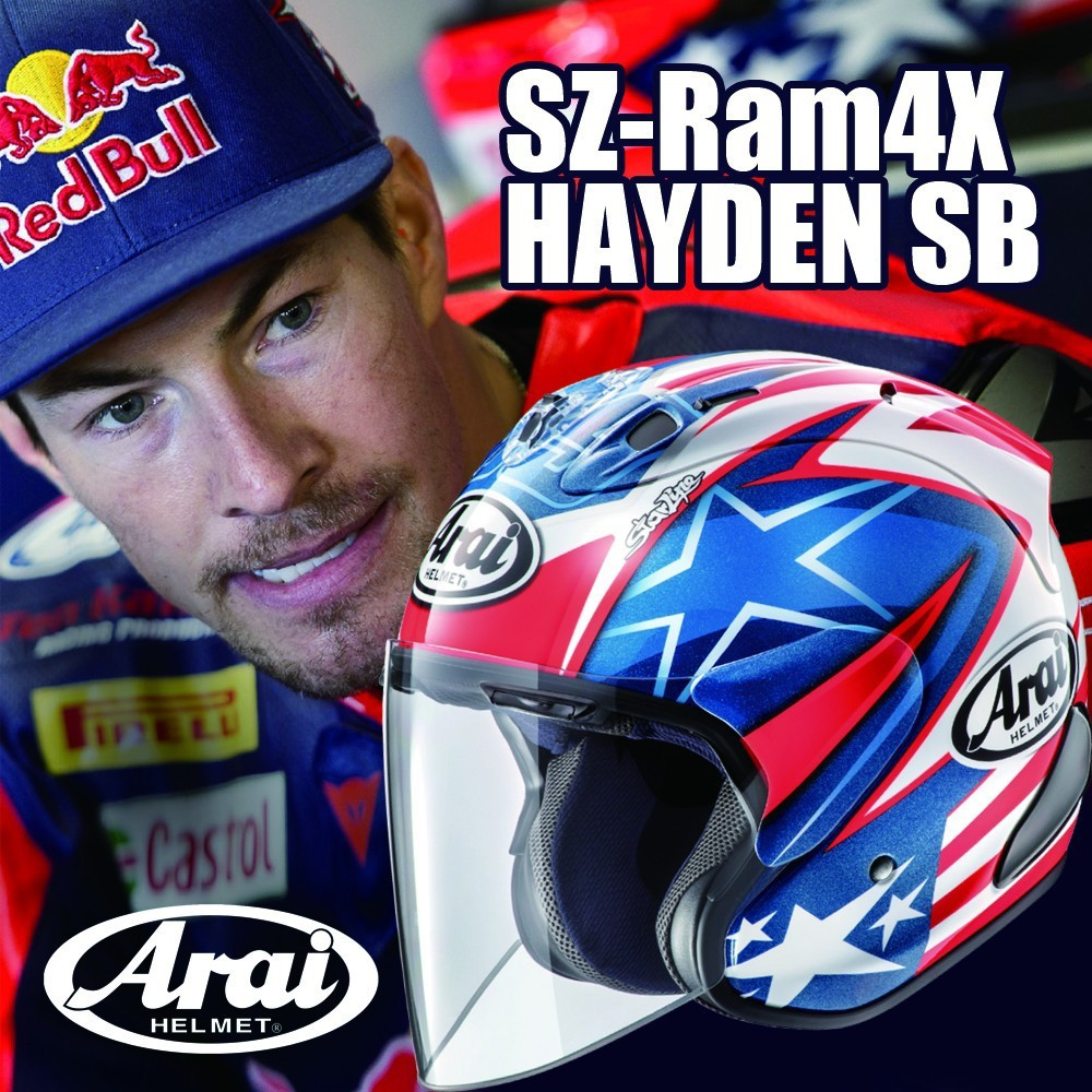 Arai SZ-RAM4X HAYDEN SB(ヘイデン SB) オープンフェイスヘルメット