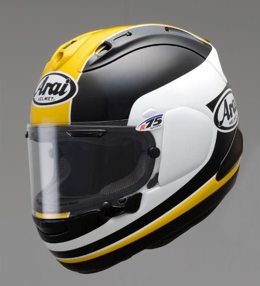 タイラレーシング Arai RX-7X Taira (タイラ)イエロー フルフェイスヘルメット