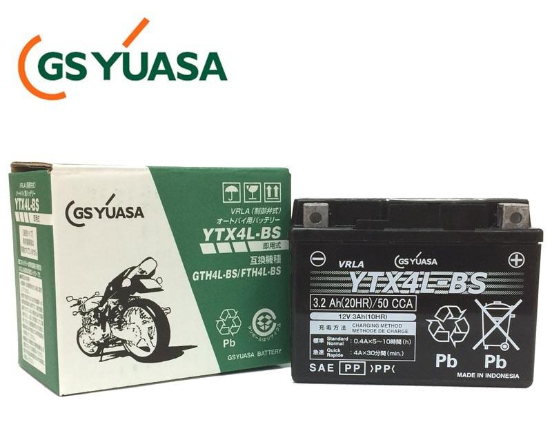 GSYUASA(GSユアサ) YTX4L-BS VRLA(制御弁式)バイク用バッテリー