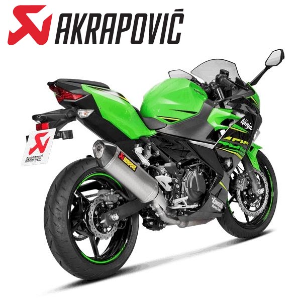 Kawasaki Ninja250 /Ninja400('18) AKRAPOVIC スリップオン ヘキサゴナル チタン JMCA認証品 S-K4SO5-HRTJPA