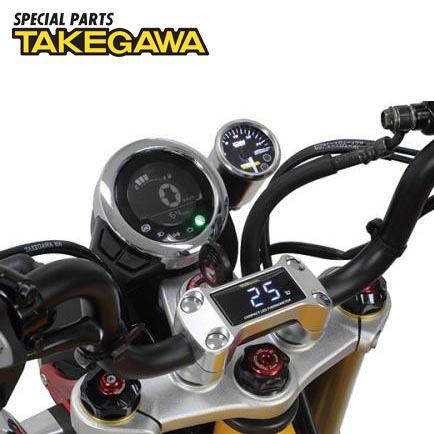 スペシャルパーツ武川 コンパクトLEDサーモメーターキット(シルバー) 05-07-0009