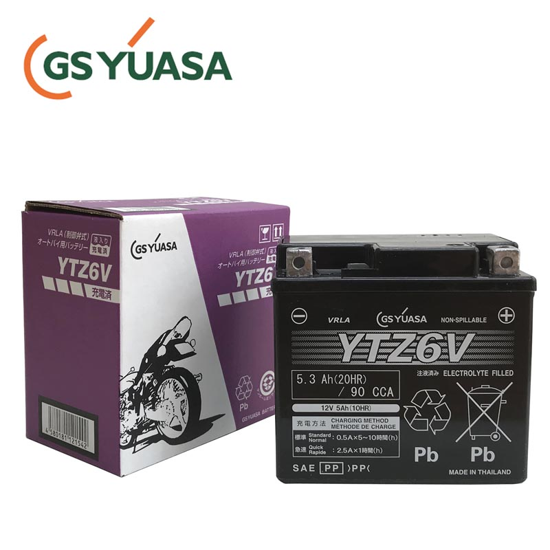 GSYUASA(GSユアサ) YTZ6V VRLA(制御弁式)バイク用バッテリー