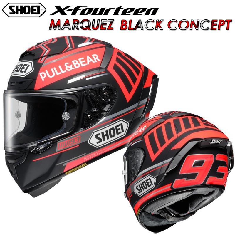SHOEI X-Fourteen MARQUEZ BLACK CONCEPT(マルケス ブラックコンセプト) フルフェイスヘルメット