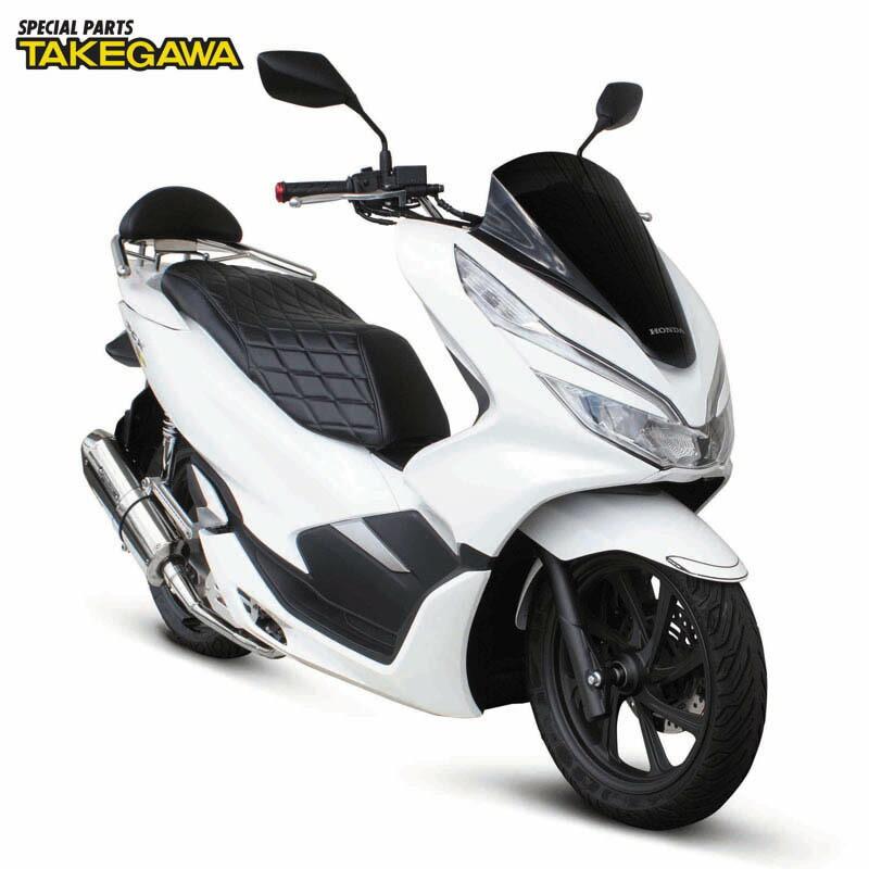 HONDA PCX スペシャルパーツ武川 クッションシートカバー(ダイヤモンドステッチ)09-11-0236
