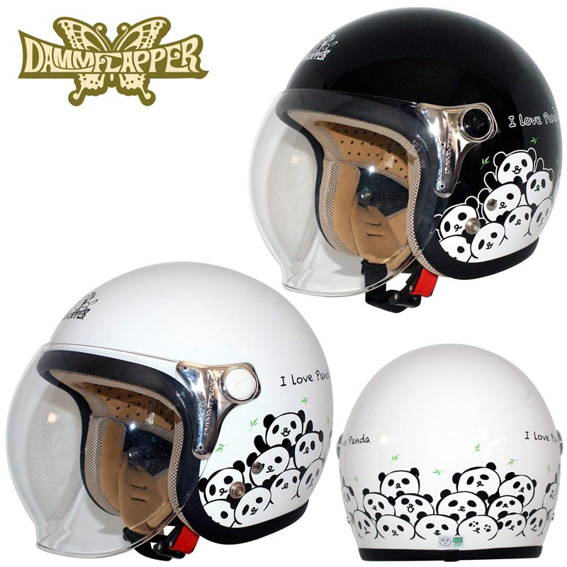 DAMMTRAX(ダムトラックス) CARINA Panda(カリーナ・パンダ) ジェットヘルメット