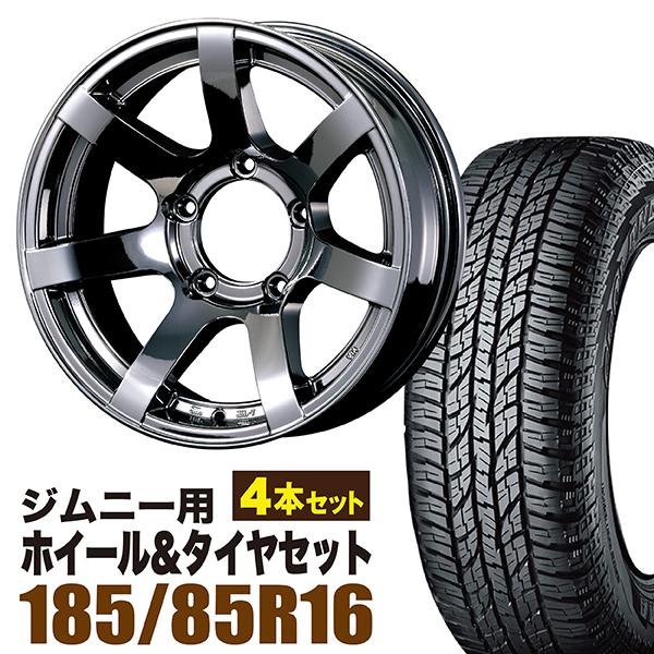 【4本組】ジムニー ホイール タイヤセット MUDS7 Jimny 5.5J-20 ブラックスパッタリング ジオランダー A/T G015 LT185/85R16 105/103L 4本セット