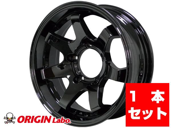 【1本組】MUD-SR7 Jimny 16インチ 5.5J -20 ブラック スパッタリング【ORIGINLabo./オリジンラボ】