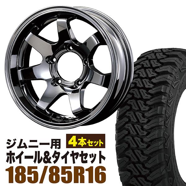 【4本組】ジムニー ホイール タイヤセット MUDSR7 Jimny 5.5J-20BSP accelera(アクセレラ) M/T-01 185/85R16 105/103L 4本セット