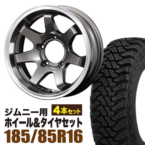 【4本組】ジムニー ホイール タイヤセット MUDSR7 Jimny 5.5J-20GM accelera(アクセレラ) M/T-01 185/85R16 105/103L 4本セット